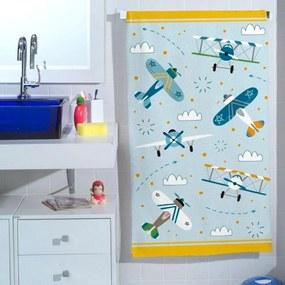 Toalha de Banho Infantil Aviões (65x115cm)