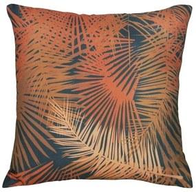 Capa de Almofada Hoven Folha Palmeira Marrom 44x44cm