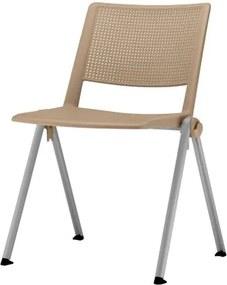 Cadeira Up Assento Bege Base Fixa Cinza - 54317 Sun House