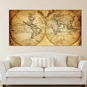 Painel Fotográfico Mapa Mundi Vintage De 1733