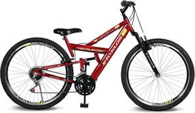 Bicicleta Kyklos Bikes Aro 26 caballu 7.4 Rebaixada 21V A-36 Vermelho