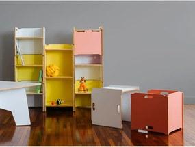 Caixa de Brinquedos Lótus Compensado Rosa Linha Bloom