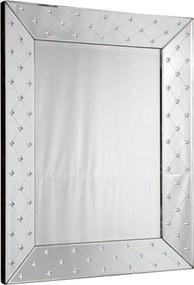 Espelho Veneziano Quadrado Luis XV Com Peças Bisotadas - 80x50cm