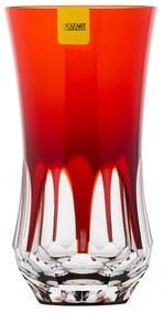 Copo de Cristal Lapidado Long Drink  - Vermelho - 55  Vermelho - 55