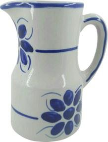 Jarra de Porcelana Azul Floral 1100 ml