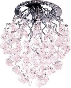 Plafon Embutir Vidro Cromado Rosa