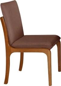 Cadeira Perséfone Estofada Facto Marrom / Imbuia