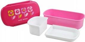 Pote para Lanche Infantil Flor Jacki Design Sapeka Pink