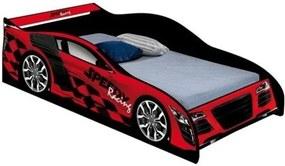 Cama Carro Speed Solteiro Vermelho - J&A Móveis