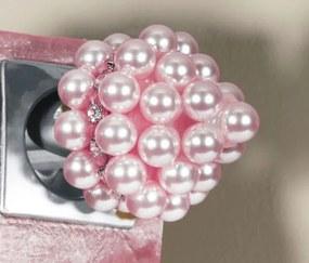 Ponteira Pérola com Strass para Varão de 28mm - Rosa