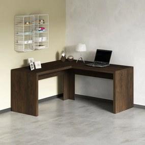 Mesa De Escritório Escrivaninha De Canto Home Office Rústico