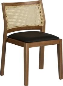 Cadeira de Jantar  Mad Empilhavel com Palha