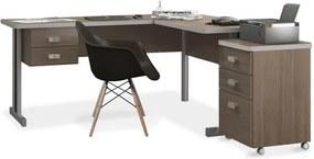 Conjunto de Escritório com Estação de Trabalho e Gaveteiro Maestro e Cadeira Eames