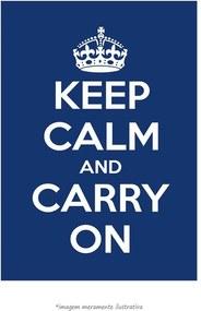 Poster Keep Calm And Carry On - Azul Escuro (60x90cm, Apenas Impressão)