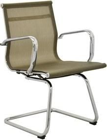 Cadeira Office Sevilha Fixa Tela Dourado Rivatti Verde