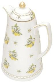 Garrafa Térmica De Porcelana Lemon 28cm 900ml 35494 Wolff