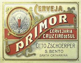 Placa Cerveja Primor Cruzeiro do Sul