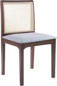 Cadeira Decorativa Sala de Jantar Steve Amêndoa - Gran Belo