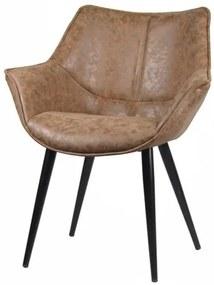 Cadeira Anne Corino Marrom Vintage Base Preta - 58281 Sun House