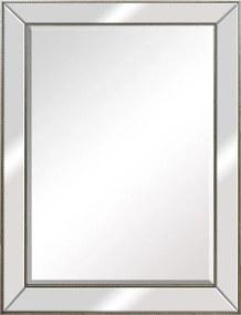Espelho Retangular com Moldura Espelhada em Prata - 98x128cm
