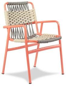 Cadeira Bay Área Externa Trama Corda Náutica Estrutura Alumínio Eco Friendly Design Scaburi