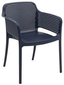 Cadeira Tramontina Gabriela Azul Navy em Polipropileno e Fibra de Vidro