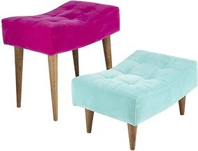 Conjunto com 2 Puffs Rosa e Azul Tiffany