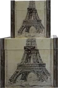 Conjunto com 3 Baús Paris Eiffel