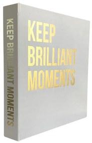Caixa Livro Branco Keep Brilliants Moments