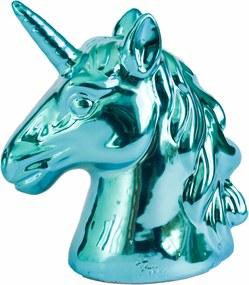 Cofre cerÂmica metalizado - unicÓrnio azul
