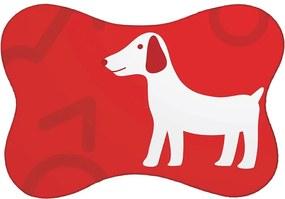 Tapete PET Mdecore Cachorro Vermelho46x33cm