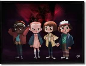 Quadro Decorativo Turma Stranger Things