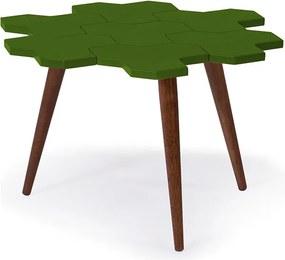 Mesa de Centro Colméia Verde Musgo