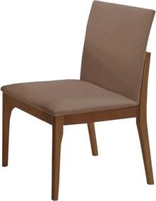 Cadeira Hércules Estofada Facto Marrom / Capuccino