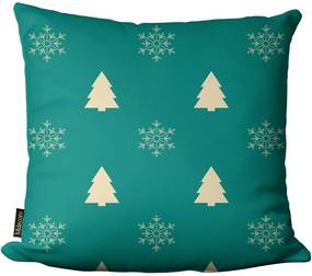 Capa para Almofada Mdecore Natal Árvore Bege -45x45cm