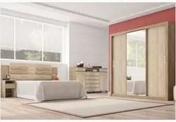 Jogo Quarto Casal Residence Nogal/Vanilla - Demóbile
