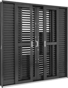 Porta Balcão de Aço de Correr Multiflex Silenfort 6 Folhas 217x200x16 - Sasazaki - Sasazaki