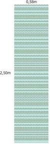 Papel De Parede Adesivo Chevron Menino (0,58m x 2,50m)