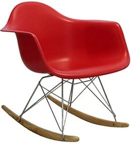 Cadeira Bristol de Balanço com Estrutura de Madeira e Alumínio Assento