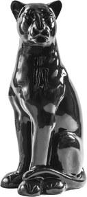 Escultura Pantera G Sentada Preta