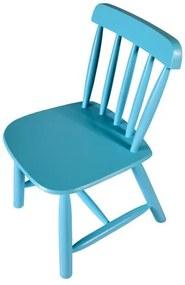 Cadeira Infantil em Madeira - Azul Bebê