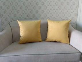 2 Capas Almofada Suede Lisa Amarelo 43x43cm
