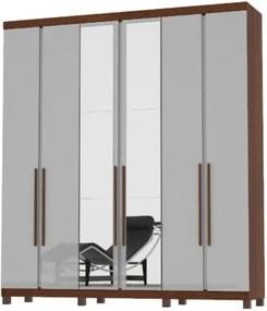 Guarda-Roupa Valença Com Espelho Ipê/Off White– Mirarack