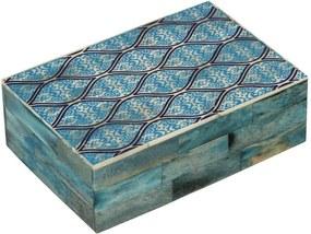 Caixa de Madeira Decorativa Mansart revestida de Chifre