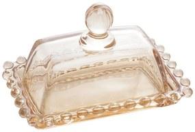 Mini Manteigueira Cristal Pearl Âmbar 11x7cm 28232 Wolff