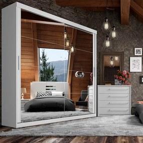 Guarda-roupa Edirne C/ 2 Portas Espelhadas Branco Sensitive