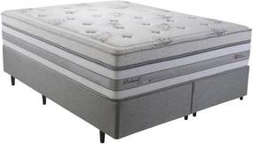 Cama Box King Herval Detroit, Molas Maxspring, 78 x 193 x 203 cm