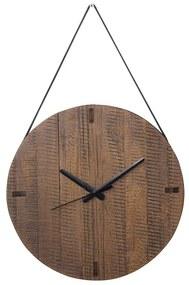 Relógio de Madeira Maciça com Tiras de Revestimento Ecológico -