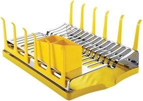 Escorredor Aço inox com Bandeja para Louças Plurale Amarelo Ônibus Escolar - Tramontina