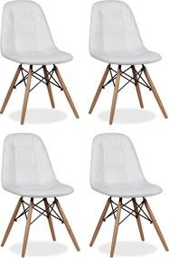 Conjunto 4 Cadeiras Eiffel Botonê Eames DSW Branca